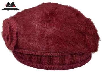 تولیدی کلاه قاسمی-کلاه بره بافتنی(قرمز)