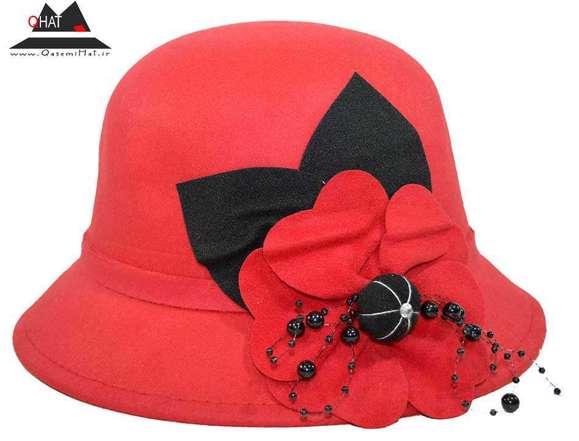 فروشگاه کلاه قاسمی-کلاه شاپوشهرزادی زنانه قرمز